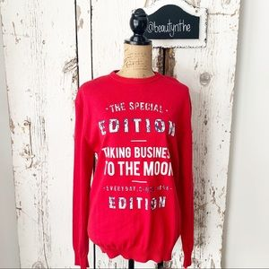 Zara man -the special edition MOON sweater red